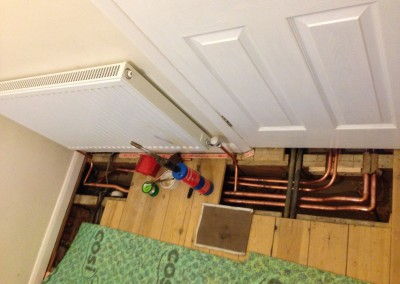 Douglas Crescent, Central heating installation