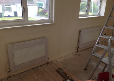 Langdale close, Radiators installation